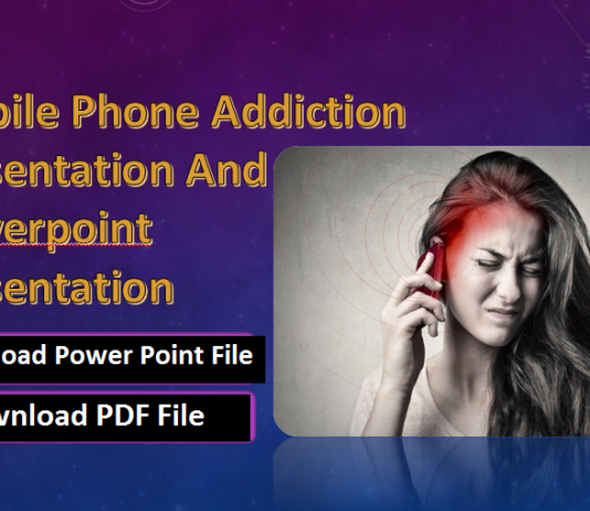 Mobile Phone Addiction Presentation And Powerpoint Presentation