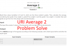 uri average 2 1006 problem solve