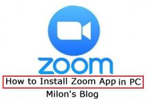 How to install zoom app in pc
