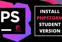 how to install phpstorm student version in windows 10